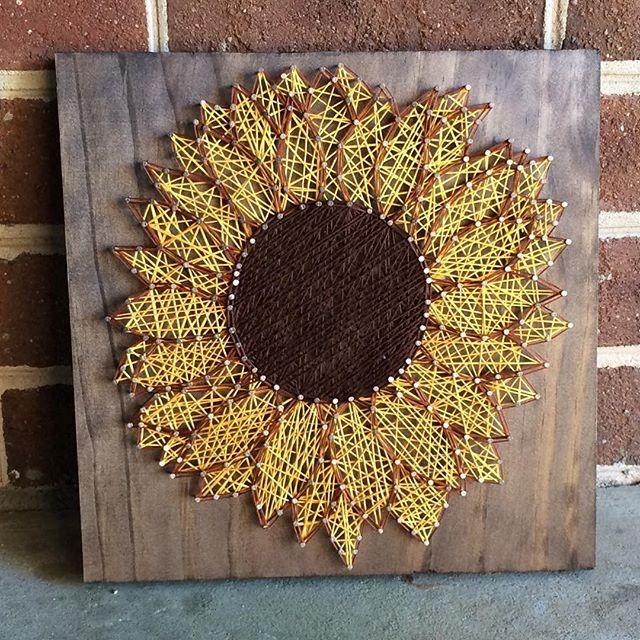 Sunflower string art by  cuseycustomcrafts