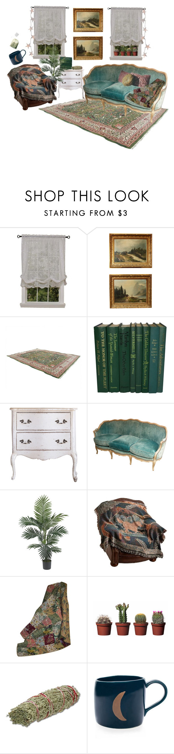"""the den"" by xievas ❤ liked on Polyvore featuring interior, interiors, interior design, home, home decor, interior decorating, Habitat, Nearly Natural, Greenland Home and Shabby Chic"