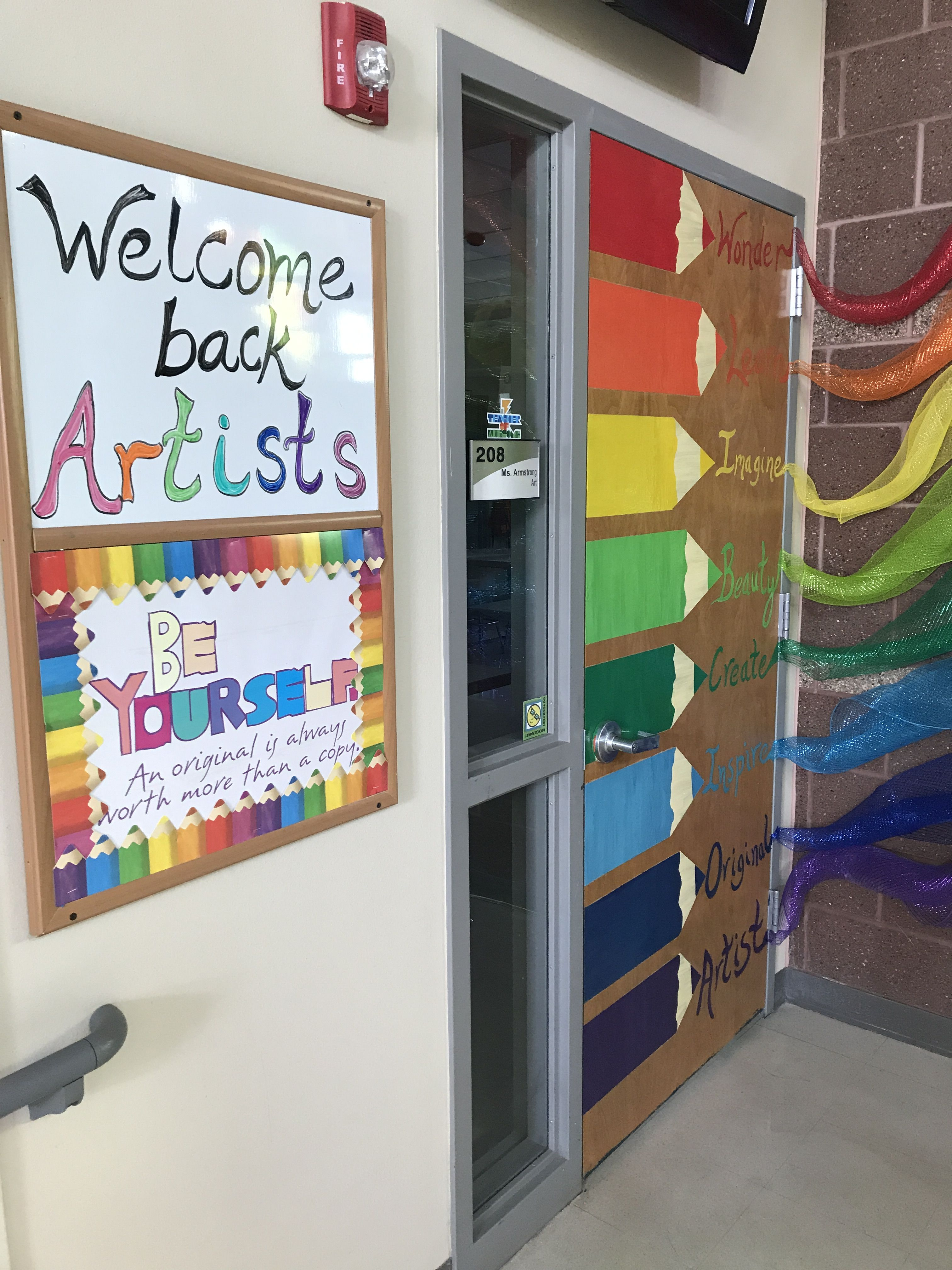 Art Room Door Art Classroom Decor Art Room Doors Elementary Art Rooms