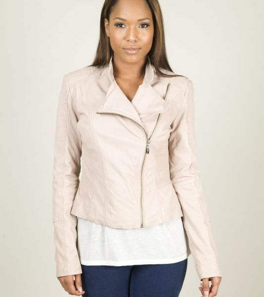 cream leather jacket - Google Search