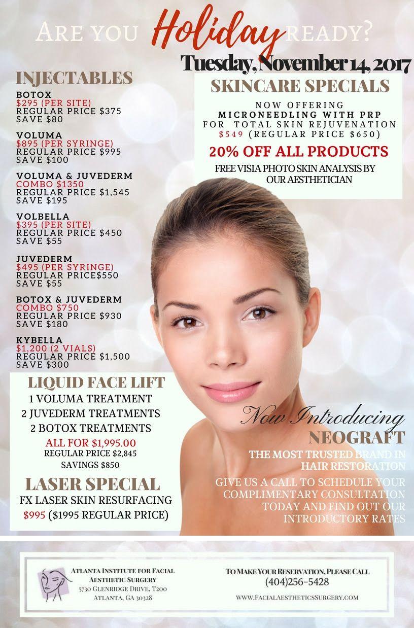 Facial Aesthetic Surgery Now Offering Microneedling With Prp For Total Skin Rejuvenation 549 Regular Price 65 Botox Skincare Rhinoplasty Skin Rejuvenation