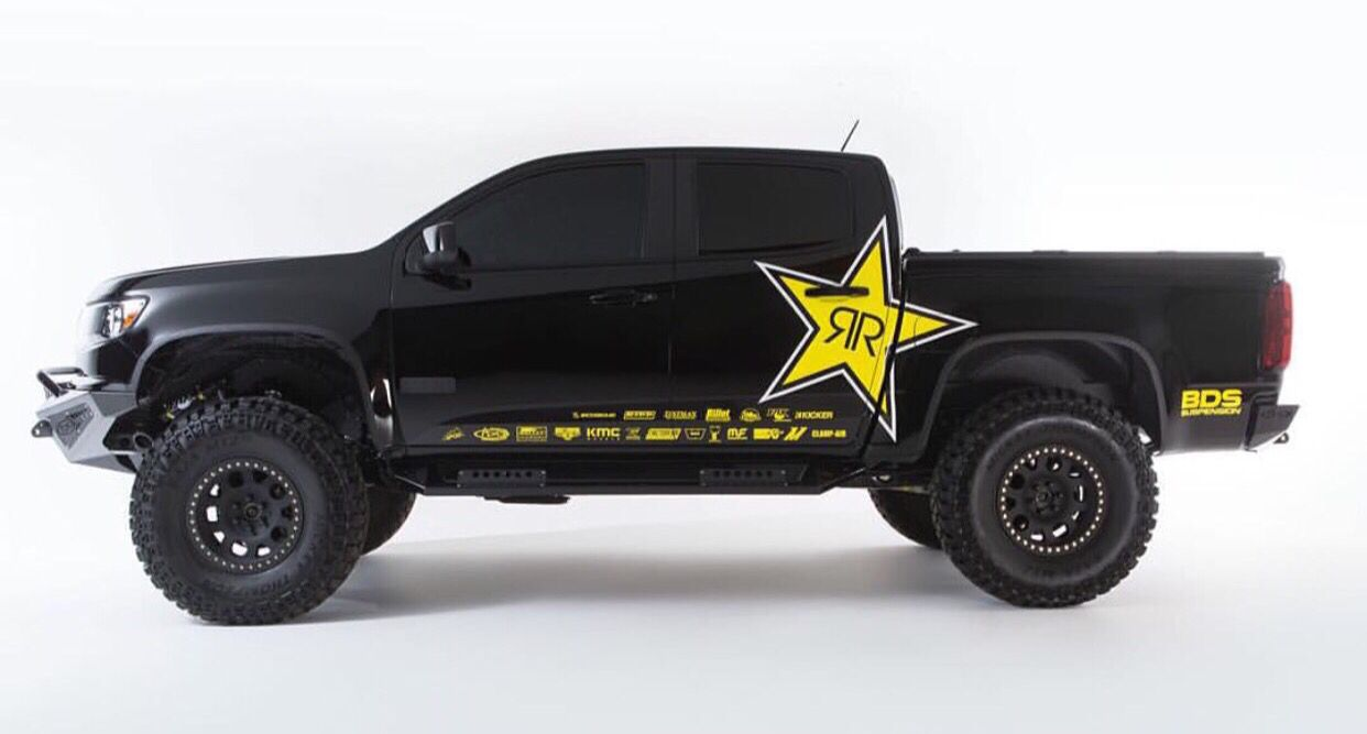 Rockstar energy baja truck sticker ideas car stickers rockstar energy mobile advertising