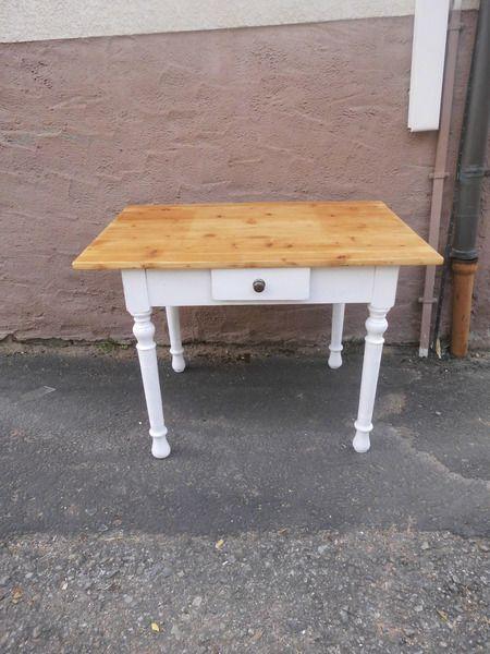 Shabby Chic Tisch Esstisch Um 1920 Weichholzplatte Von Theos