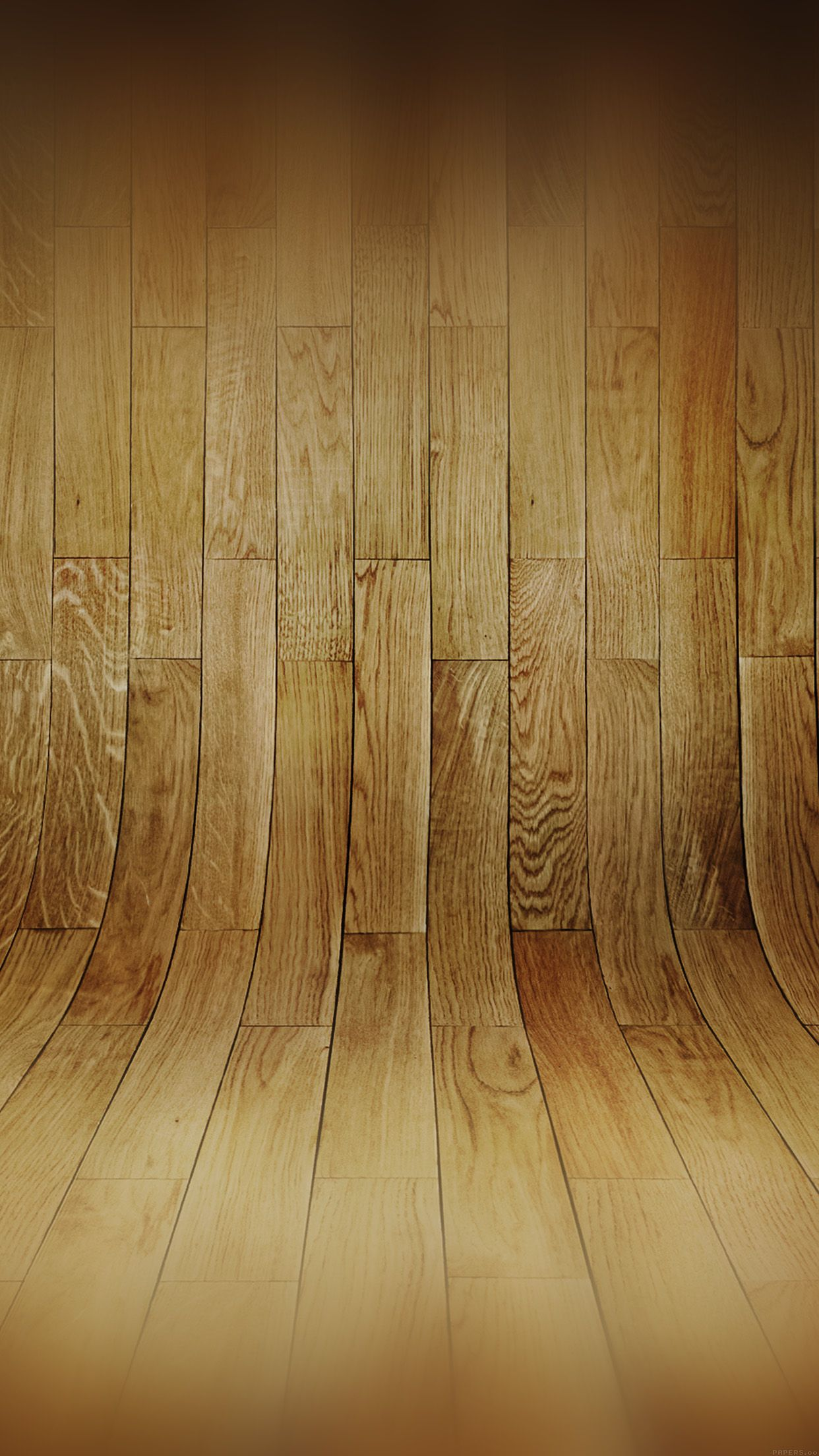 Curved 3D Wood Planks Texture IPhone 6 Plus HD Wallpaper