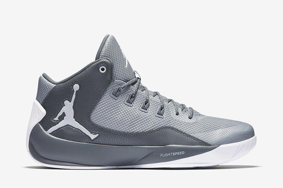 Jordan Rising High 2 Men's Basketball Shoe: Wolf Grey/Cool Grey/Infrared 23