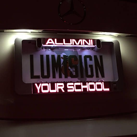 LumiSign No Wires Interchangeable Inserts The Auto Illuminated License Plate Frame Lights Up While You Brake Battery Operated Installs in Seconds