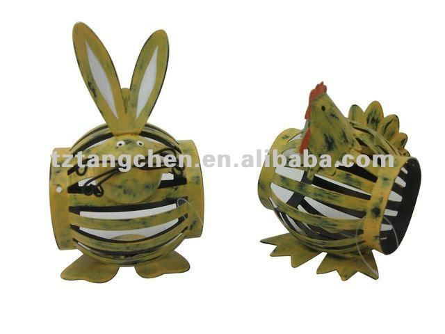 Metal animal napkin rings for Home decoration