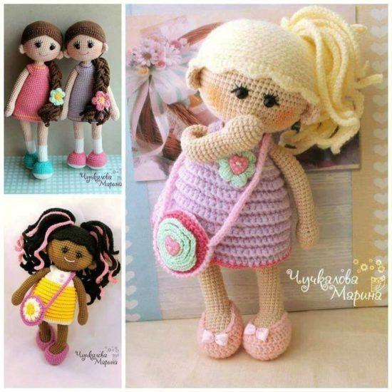 Crochet Dolls Patterns Amigurumi Easy Video Tutorial | Puppe, Puppen ...