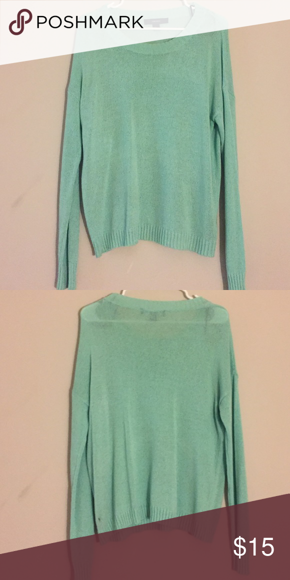 Forever 21 Mint Green Knit Sweater Mint green knit sweater forever 21 Forever 21 Sweaters Crew & Scoop Necks