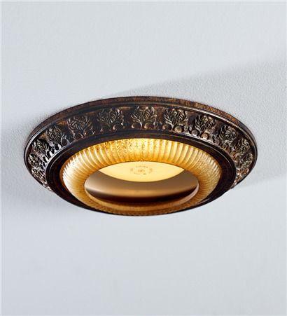 Acanthus Leaves Decorative Bronze Recessed Light Cap Ring
