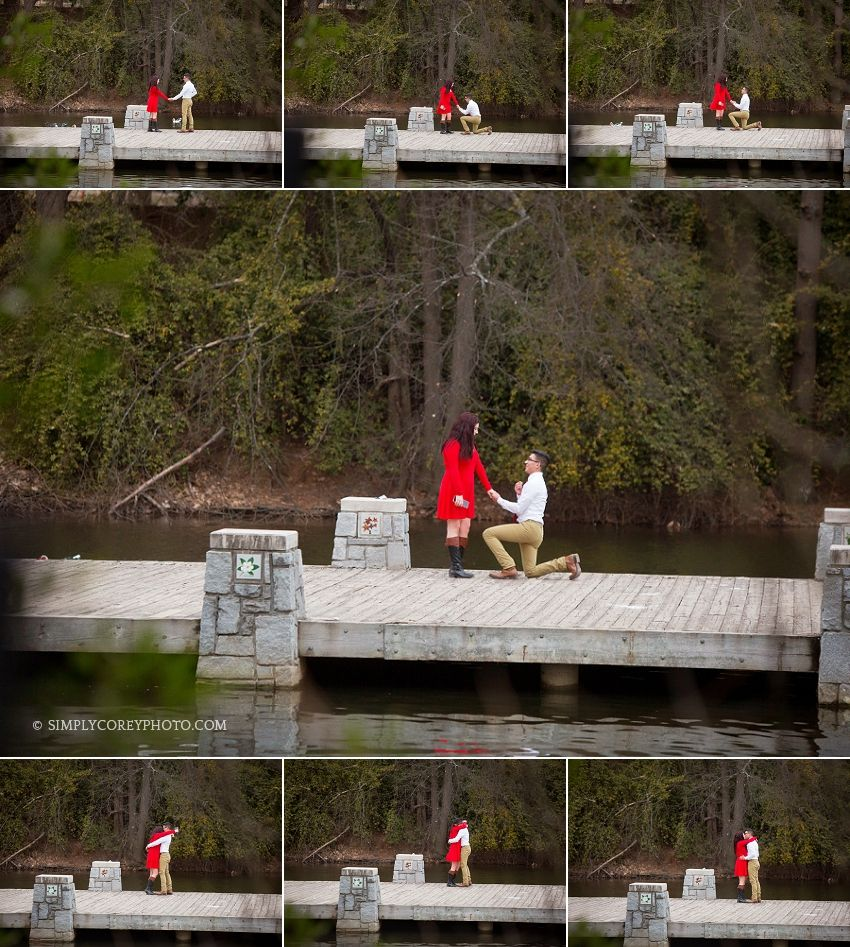 marriage proposal at Piedmont Park in Atlanta by Simply Corey Photography