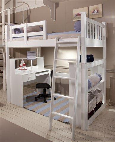 Best Hammond Kids Three Quarter Loft Bed Loft Bed Single 640 x 480
