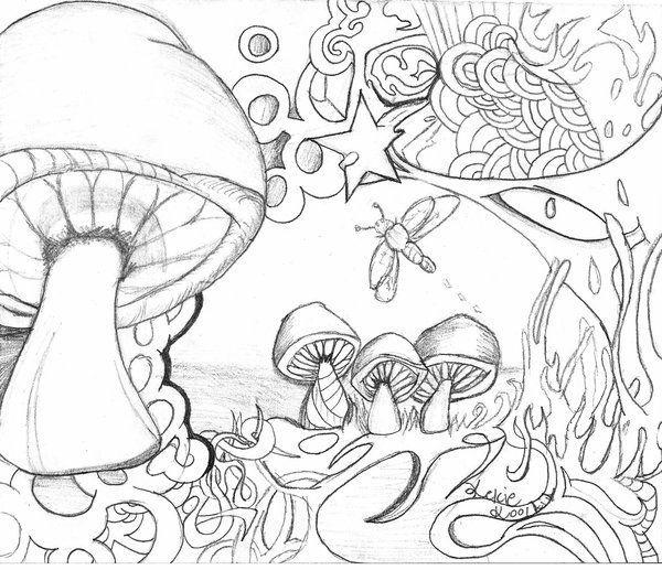 Resultado de imagem para psychedelic mushroom coloring pages