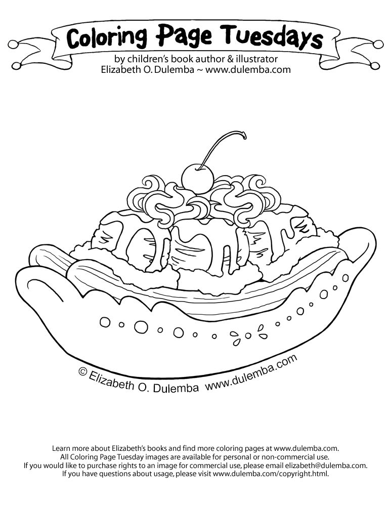 BananaSplit-big.jpg 773×1,000 pixels | coloring page tuesdays ...