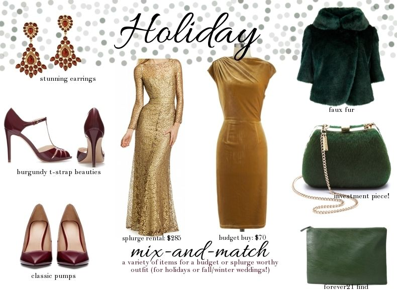 What To Dress For Holiday Parties Or Winter Wedding He Combination Of Rich Golds