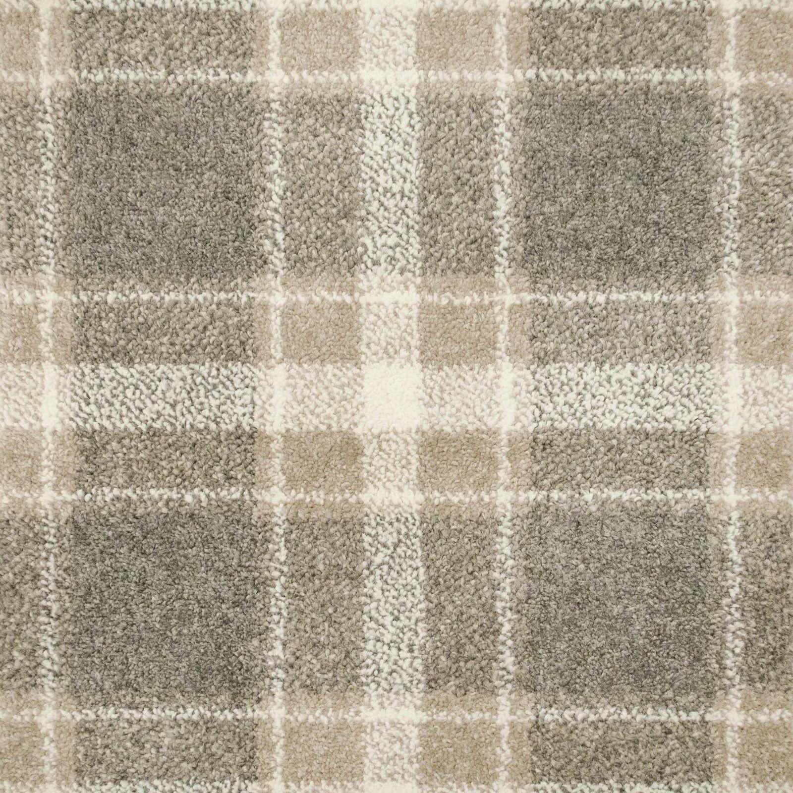 Best Grey Beige Tartan Castle Wilton Carpet Tartan Stair 400 x 300