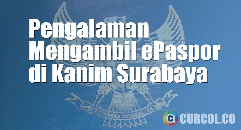Tulisan ini lanjutan dari artikel sebelumnya, tentang Pengalaman Mengurus ePaspor di Kanim Surabaya. Akhirnya, setelah melalui penantian panjang (telat dua ming