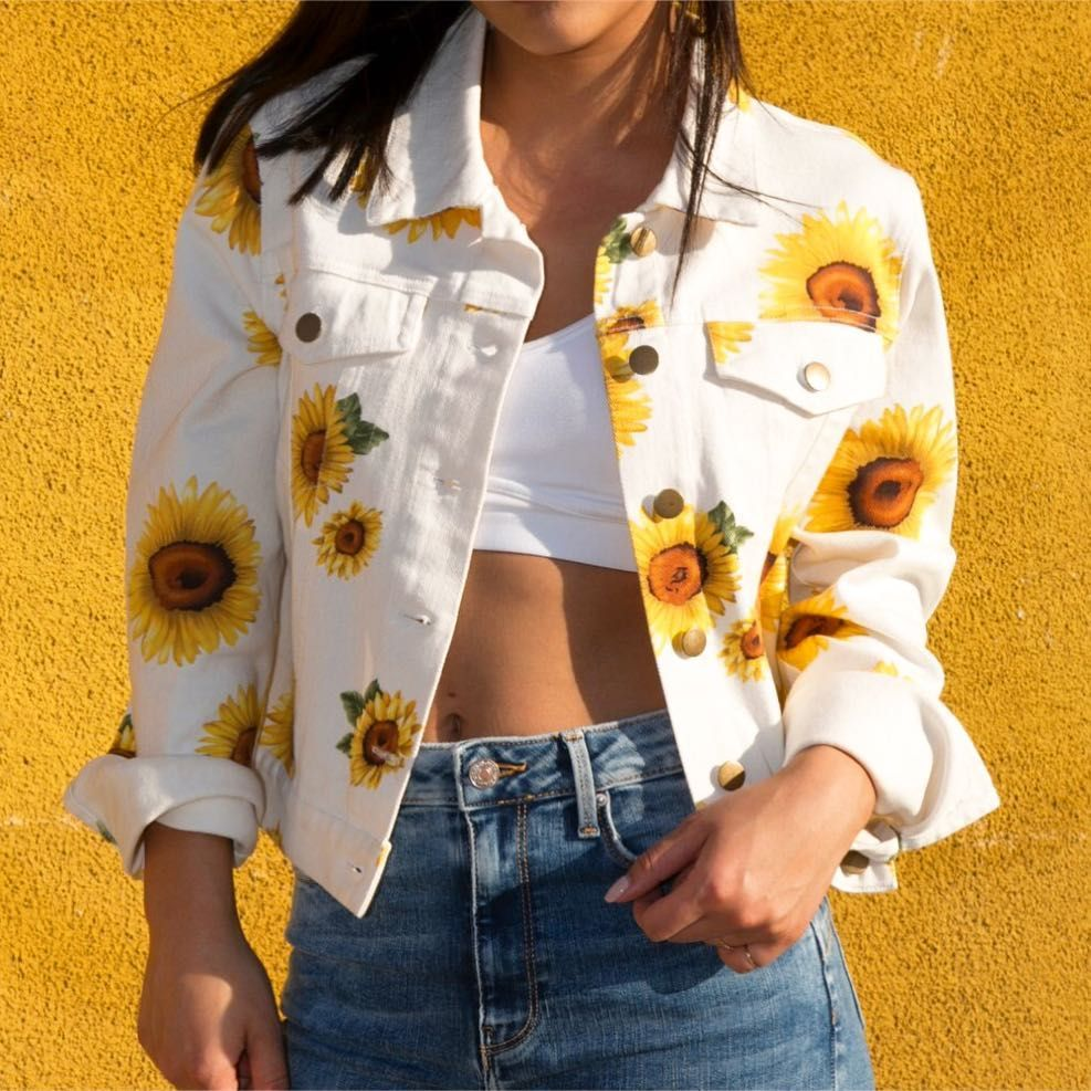 65 8k Likes 513 Comments Forever21 On Instagram Sunny With A Chance Of Floral Shop Link I Coat Women Fashion Painted Clothes Painted Denim Jacket [ 987 x 987 Pixel ]