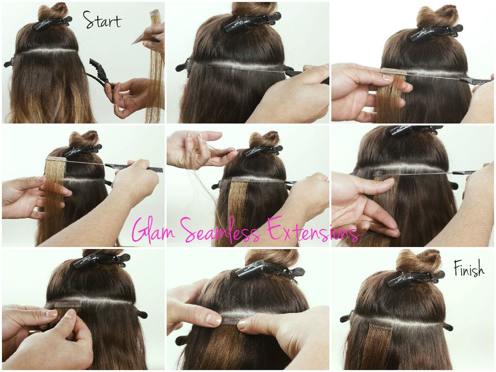 Learn How To Apply Tape In Hair Extensions Glam Seamless Provides