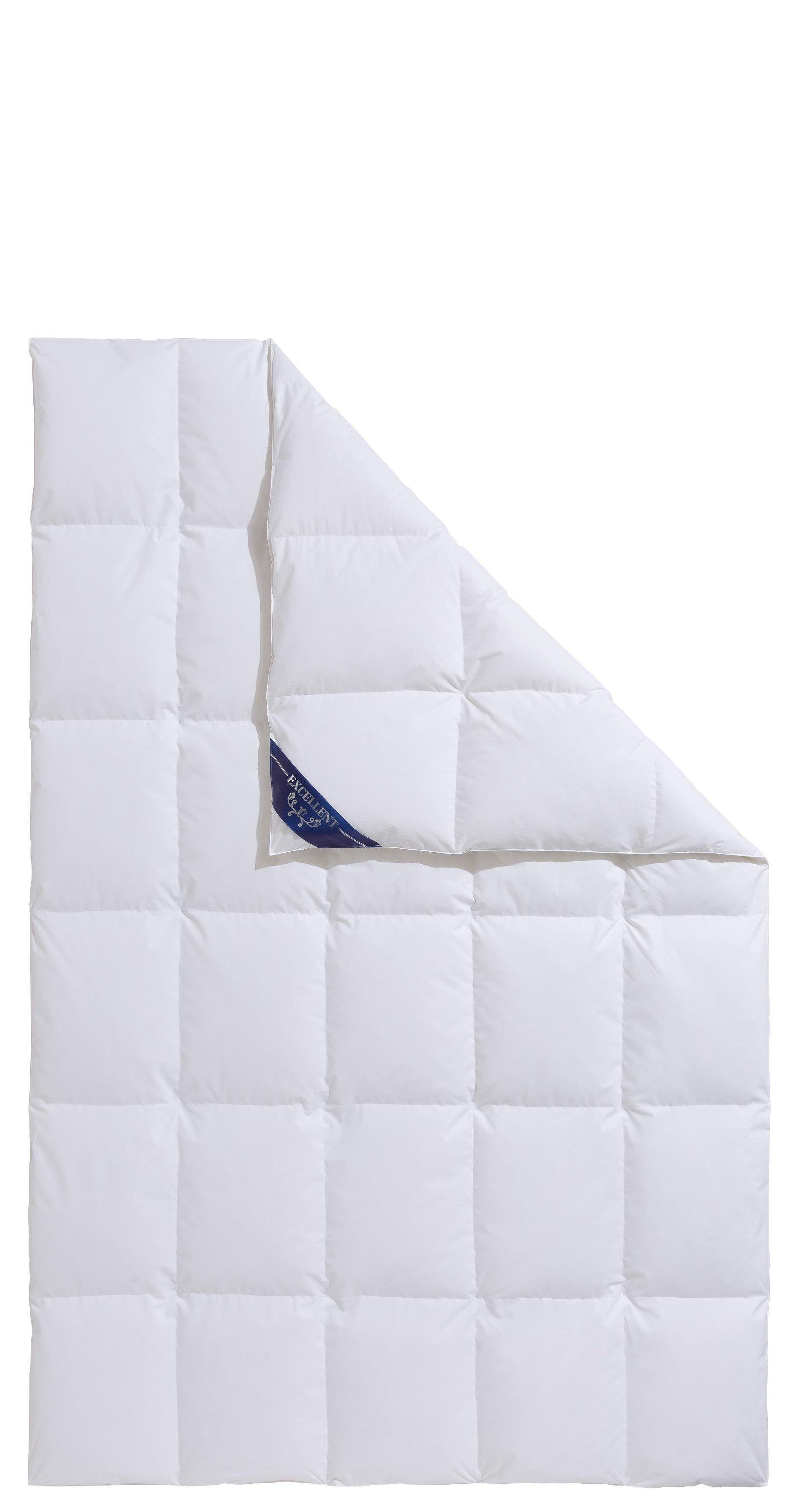 Excellent Daunenbettdecke + Daunenkissen »Lugano«, 155x220 cm + 80x80 cm, weiß