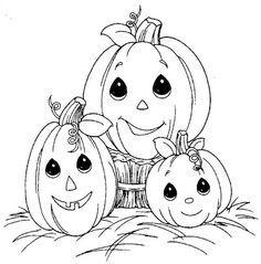 Fun Coloring Pages Pumpkin Halloween Precious Moments
