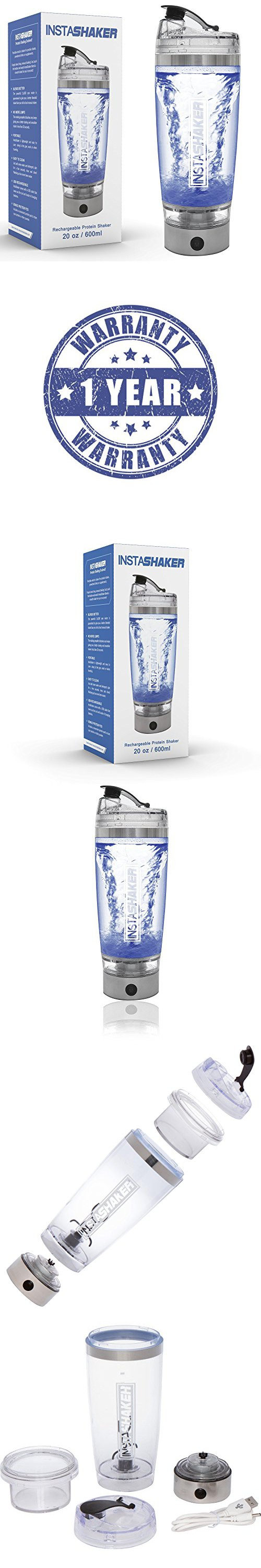 InstaShaker Protein Shaker Bottle - Electric Blender Bottle
