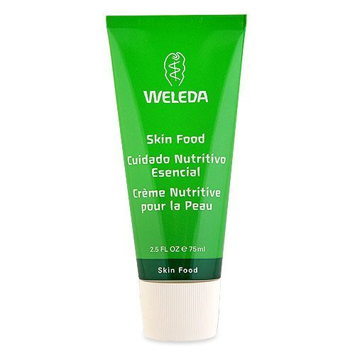 Weleda Skin Food this is a great mask, make-up primer, chapped skin saver, and best kept professional secret. I love the smell, it has a nice sheen to.