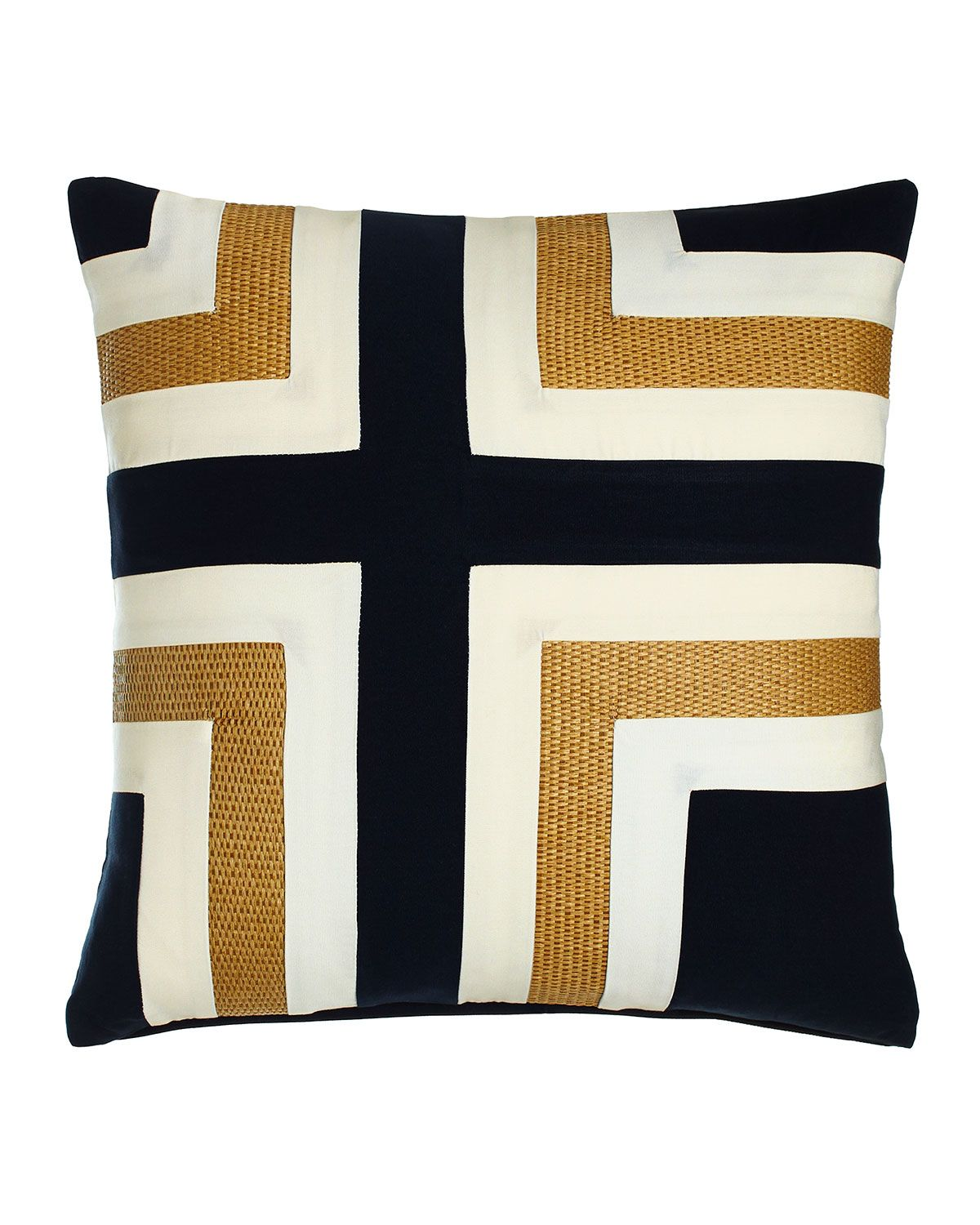 Navy Regents Cross Outdoor Pillow Multi Colors Neiman Marcus