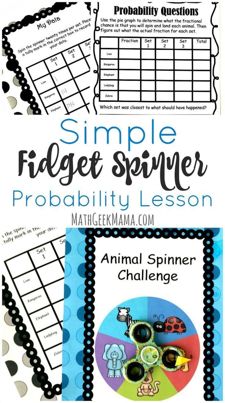 Fidget Spinner Math Activity  Probability  U0026 Graphing