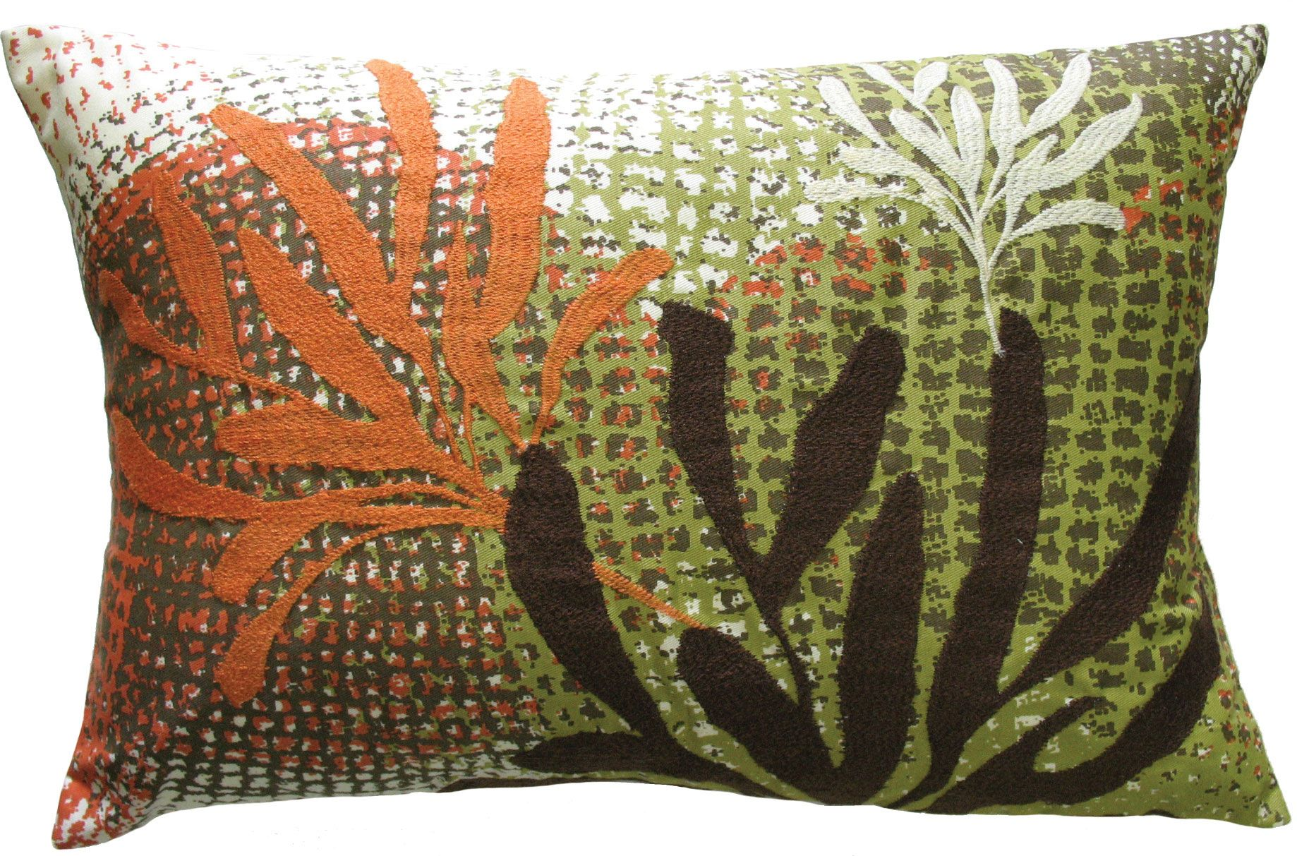 Rustbrown leaves ecco pillow x