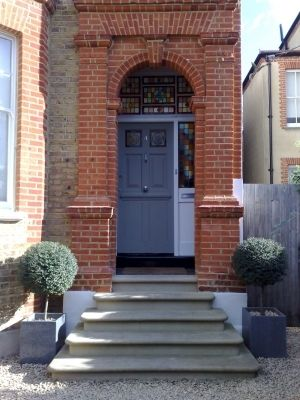 Bon York Stone Steps, Bullnosed, Installed By English City Stone. Front Door  Steps,