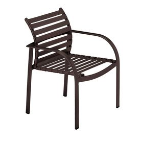 sun isle preston 2 count java aluminum stackable patio dining chair