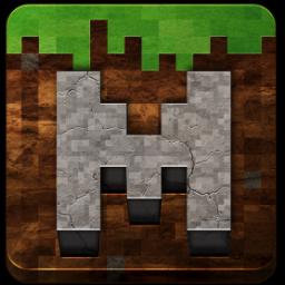 Minecraft アイコン。 これをRにして、背景の色味を変えてみるとか。