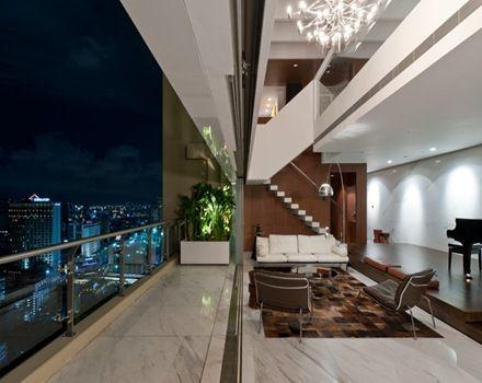 Departamento d plex arquitectura y decoraci n de lujo en - Arquitectos de interiores famosos ...