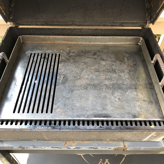 Custom Griddle Barbecue Grill Removable Insert 1 4 Inch Thick Solid Steel Plate Metal Boataccessorieslights Grilling Barbecue Grill Griddles