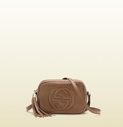 329253f8a69 soho maple brown leather disco bag