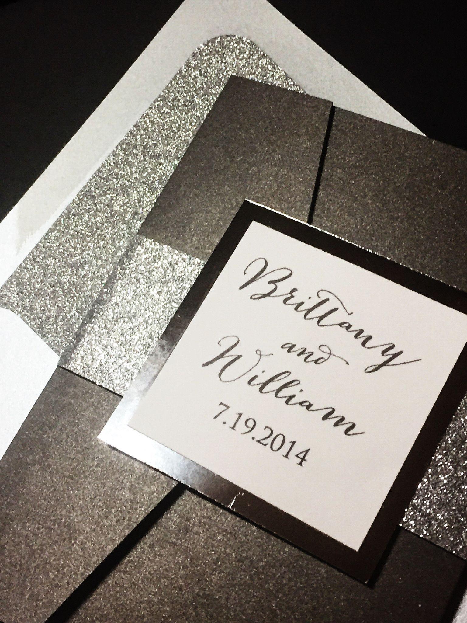Glitter Wedding Invitation, Luxury Wedding Invitation, Elegant ...