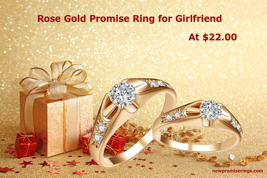 Rose Gold Promise Ring for Girlfriend at $22