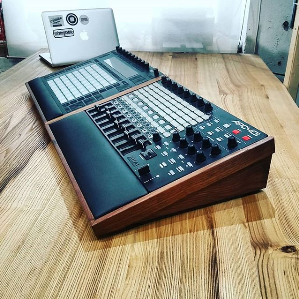 APC40 mkII Lux and Push2 Lux Walnut Desk Stands by mixingtable | All
