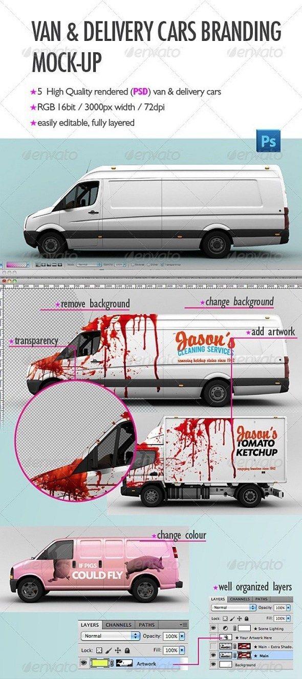 15 Best Van & Truck Mockup PSD Templates Download