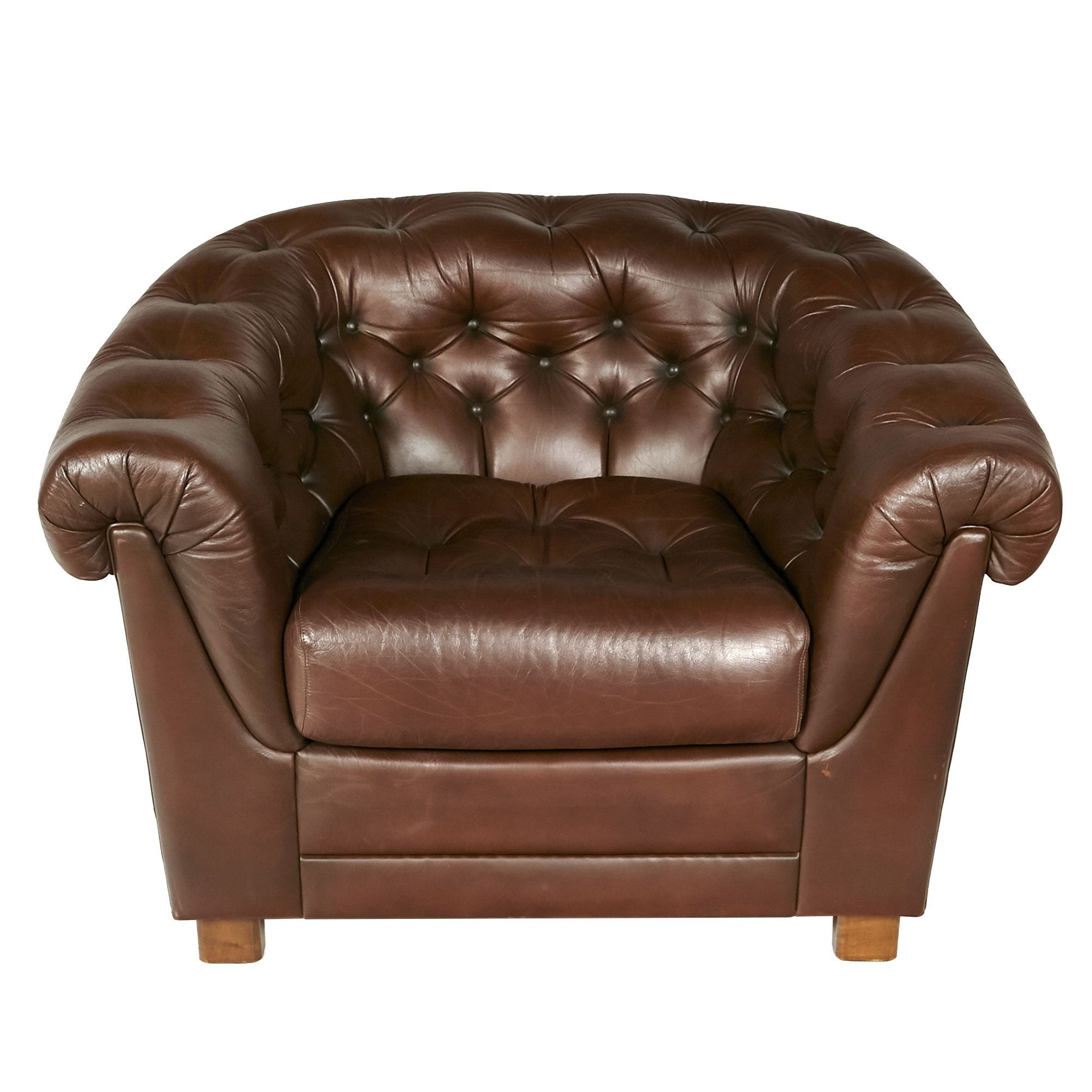 brown leather chesterfield lounge chair products pinterest