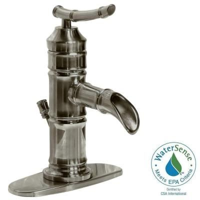 Pegasus Bamboo 4 In Centerset 1 Handle Bathroom Faucet In Brushed