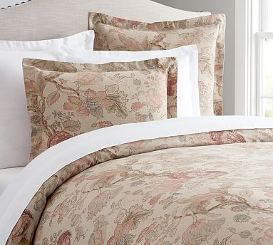 Grace Fl Linen Textured Duvet Cover King Cal Multi