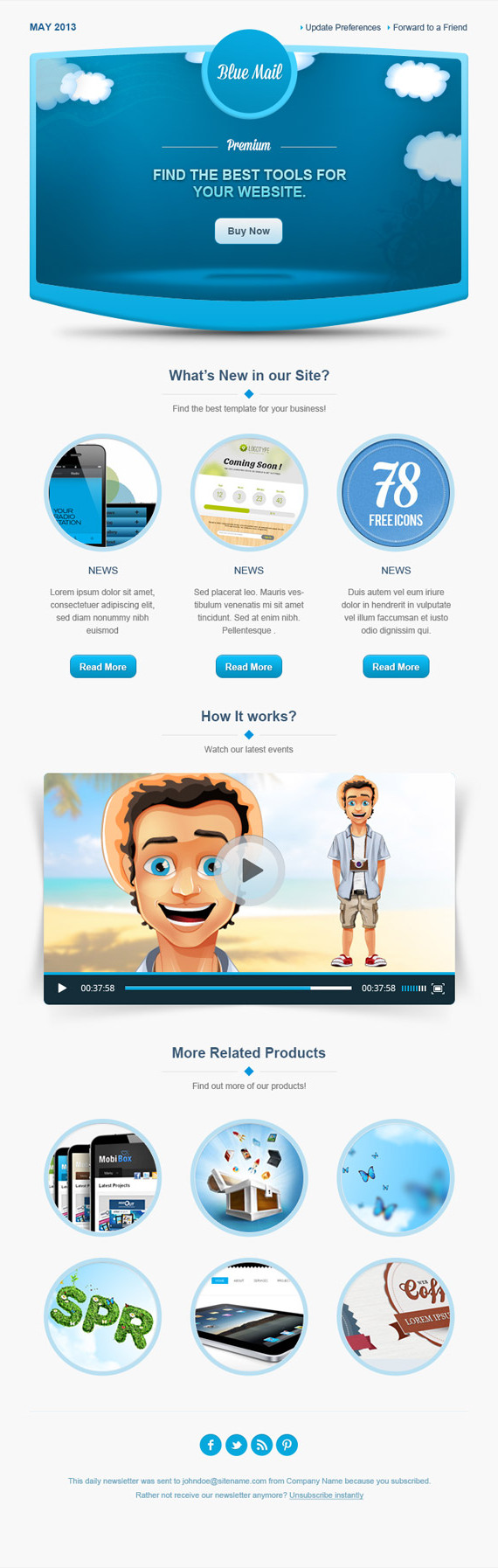 40+ Best Email Newsletter Templates HTML PSD Free