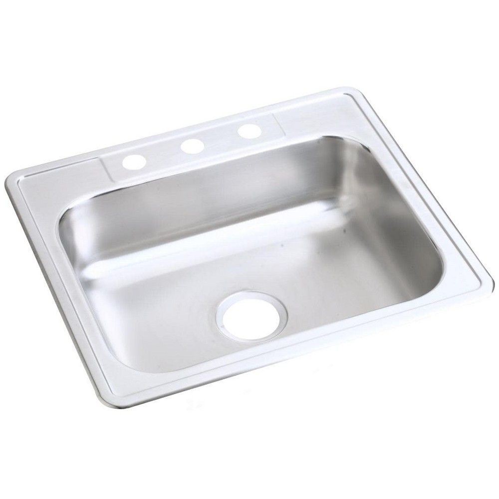 D12521 Dayton 25 Single Basin Drop In Stainless Steel Kitchen