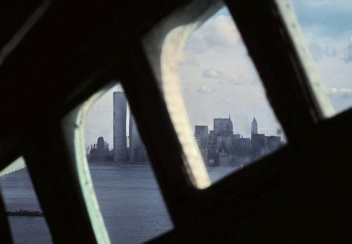 The view from inside the crown of the Statue of Liberty Travel Diary 1998