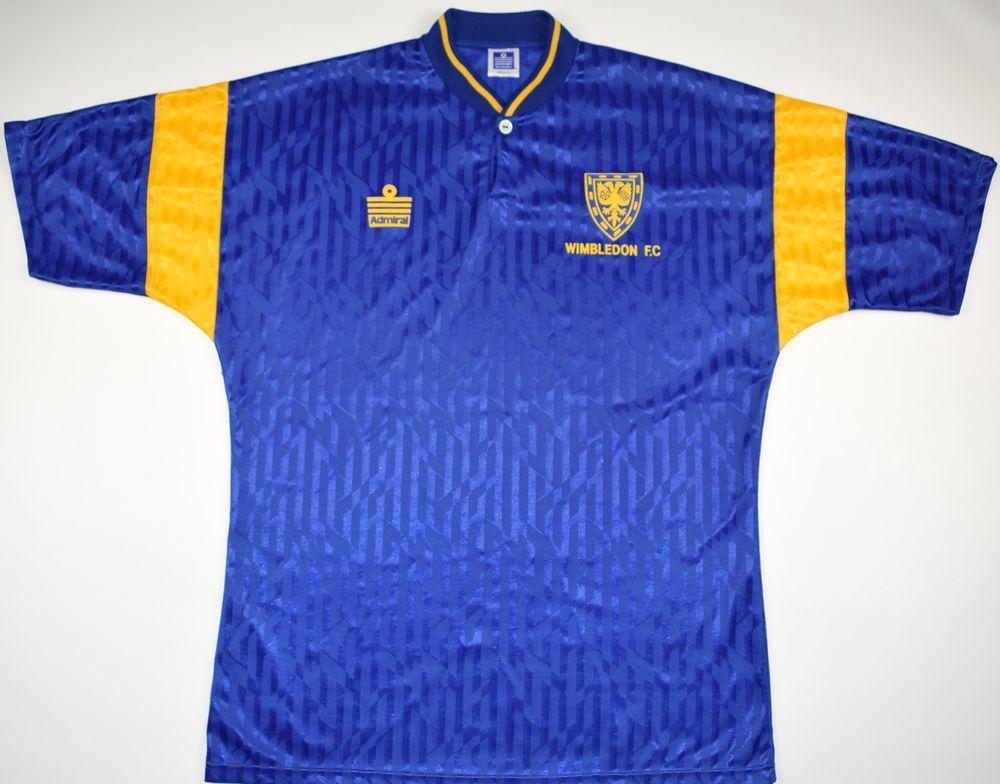 1991-1993 wimbledon admiral home football shirt (size m)  447c11416
