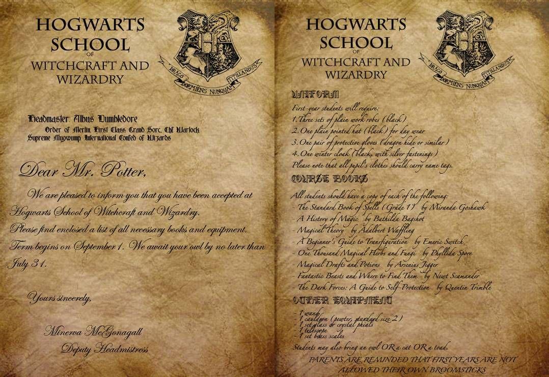 Hogwarts Acceptance Letter by Envy555 on DeviantArt in