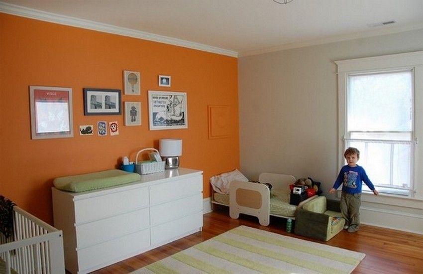 Simple Vintage Toddler Boy Room Ideas Bedroom Orange Modern