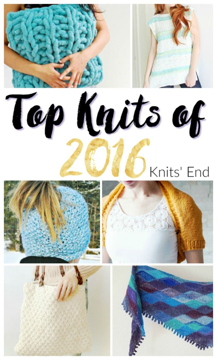 Top Knitting Patterns of 2016 from the Messy Mom Bun Hat, to the ...